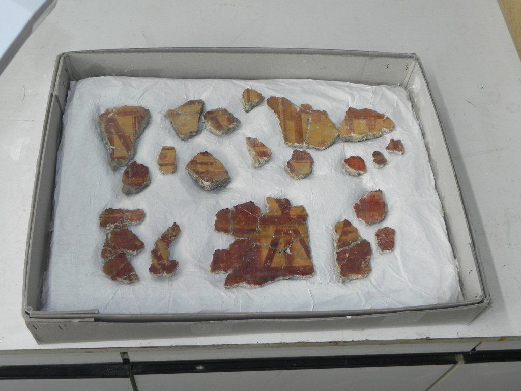 Archivierte Fragmente, die nicht ausgestellt werden